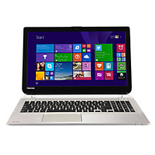 "Buy Toshiba Satellite S50-B-14P Laptop, Intel Core i5, 8GB RAM, 128GB SSD, 15.6"", Metallic + Target City Smart Slipcase Online at johnlewis.com"