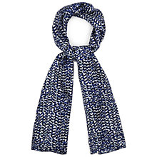 Buy Viyella Printed Silk Scarf, Kingfisher Online at johnlewis.com