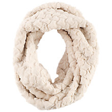 Buy Chesca Diamond Soft Faux Fur Snood, Ivory Online at johnlewis.com