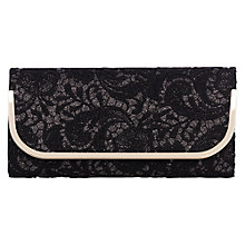Buy Oasis Luella Lace Clutch, Black Online at johnlewis.com
