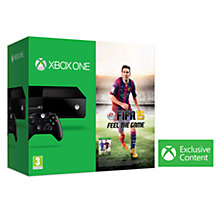Buy Microsoft Xbox One Console with FIFA 15, 12 Month Xbox Live Gold Subscription, Wireless Controller & Media Romote Online at johnlewis.com
