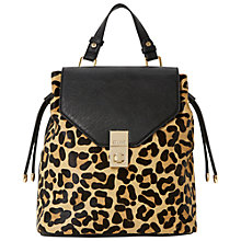 Buy Dune Drew Pony Leopard Rucksack Bag, Leopard Online at johnlewis.com