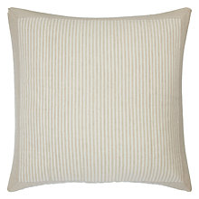 Buy John Lewis Croft Collection Washed Stripe Large Cushion Cover Online at johnlewis.com
