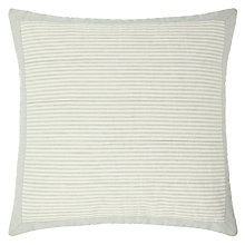 Buy John Lewis Croft Collection Wash Stripe Cushion, Duck Egg Online at johnlewis.com