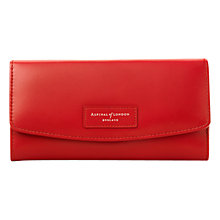Buy Aspinal of London Brooke Street Purse with Leather Plaque, Red Online at johnlewis.com