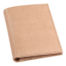 Buy Aspinal of London Saffiano Leather Credit Card Case, Cream Online at johnlewis.com