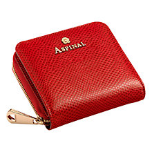 Buy Aspinal of London Continential Mini Wallet, Berry Online at johnlewis.com