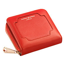 Buy Aspinal of London Leather Marylebone Mini Purse, Berry Online at johnlewis.com