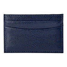 Buy Aspinal of London Leather Slim Credit Card Case, Navy Online at johnlewis.com