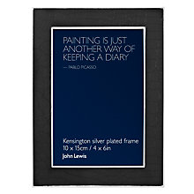 "Buy John Lewis Kensington Photo Frame, Black, 4 x 6"" (10 x 15cm) Online at johnlewis.com"