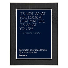 "Buy John Lewis Kensington Photo Frame, Black, 5 x 7"" (13 x 18cm) Online at johnlewis.com"
