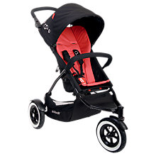 Buy Phil & Teds Dot Pushchair, Larger Seat, Chilli Online at johnlewis.com