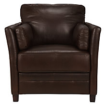 Buy John Lewis Hamilton Leather Armchair, Rodeo Brown Online at johnlewis.com