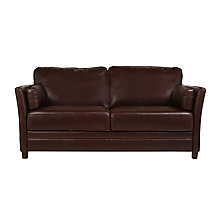 Buy John Lewis Hamilton Medium Leather Sofa, Rodeo Brown Online at johnlewis.com