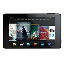 "Buy New Amazon Kindle Fire HD 6 Tablet, Quad-core, Fire OS, 6"", 8GB Online at johnlewis.com"