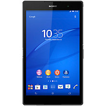 "Buy Sony Xperia Z3 Tablet Compact, Snapdragon 801, Android, 8"", Wi-Fi, 32GB, Black Online at johnlewis.com"