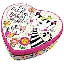 Buy Rachel Ellen Cat and Bird Heart Tin Online at johnlewis.com