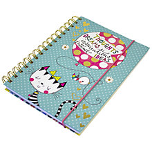 Buy Rachel Ellen Cat Balloon A5 Wiro Notebook Online at johnlewis.com