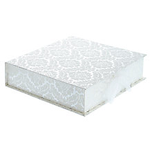 Buy Vivid Damask Keepsake Box, Silver Online at johnlewis.com