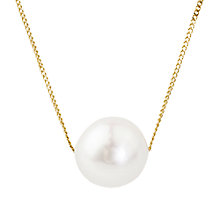 Buy A B Davis 9ct Gold Pearl Drop Pendant Online at johnlewis.com