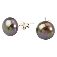 Buy A B Davis Sterling Silver Freshwater Pearl Stud Earrings Online at johnlewis.com