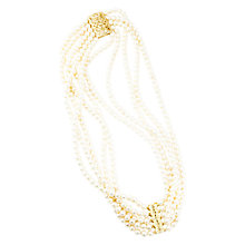 Buy A B Davis 9ct Gold Plated 5 Row Freshwater Pearl Necklace, Gold Online at johnlewis.com