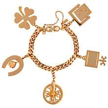 Buy Susan Caplan Vintage 1960s Monet Charm Bracelet, Gold Online at johnlewis.com