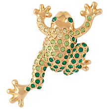 Buy Susan Caplan Vintage 1970s Monet Frog Swarovski Crystals Brooch, Green Online at johnlewis.com