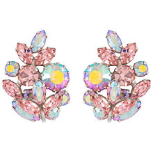 Buy Susan Caplan Vintage 1960s Sherman Leaf Earrings, Pink Online at johnlewis.com