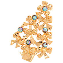 Buy Susan Caplan Vintage 1970s Avon Swarovski Crystals Christmas Tree Brooch, Gold Online at johnlewis.com