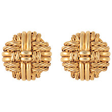 Buy Susan Caplan Vintage 1970s Oscar De La Renta Woven Earrings, Gold Online at johnlewis.com
