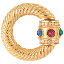 Buy Susan Caplan Vintage 1980s Givenchy Swarovski Crystal Circle Brooch, Gold Online at johnlewis.com
