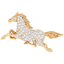 Buy Susan Caplan Vintage 1970s Attwood & Sawyer Swarovski Crystal Brooch, Gold Online at johnlewis.com