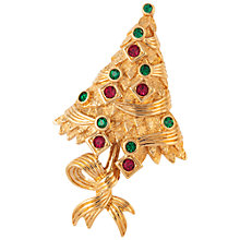Buy Susan Caplan Vintage 1960s Attwood & Sawyer Chrismas Tree Swarovski Crystals Brooch, Gold Online at johnlewis.com