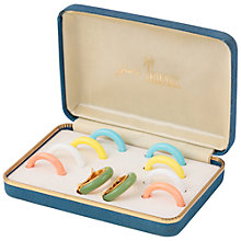 Buy Susan Caplan Vintage 1970s Trifari Gold Plated Earring Set, Gold Online at johnlewis.com