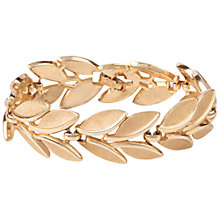 Buy Susan Caplan Vintage 1960s Trifari Laurel Leaves Bracelet, Gold Online at johnlewis.com