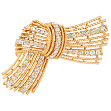 Buy Susan Caplan Vintage 1950s Trifari Swaroski Crystal Knot Brooch, Gold Online at johnlewis.com