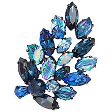 Buy Susan Caplan Vintage 1950s Regency Brooch, Silver / Blue Online at johnlewis.com