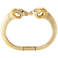 Buy Susan Caplan Vintage 1980s Kenneth Jay Bangle Double Rams Head, Gold Online at johnlewis.com