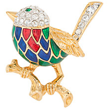 Buy Susan Caplan Vintage 1980s Attwood & Sawyer Enamel Swarovski Crystal Brooch, Gold Online at johnlewis.com
