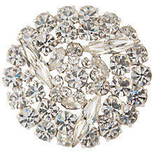 Buy Susan Caplan Vintage 1950s Sherman Swarovski Crystal Brooch, Silver/Clear Online at johnlewis.com