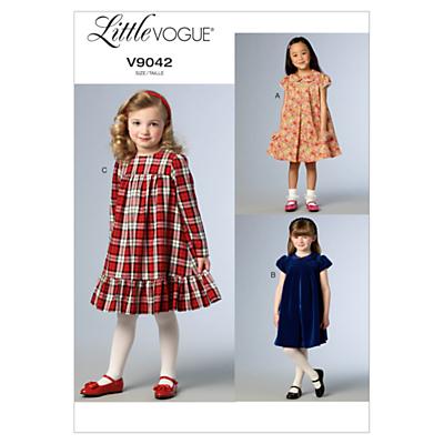 Little Vogue Children's Dress Sewing Pattern, 9042