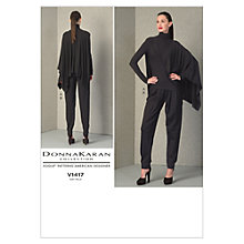 Buy Vogue Women's Donna Karen Top and Trousers Sewing Pattern, 1417a5 Online at johnlewis.com