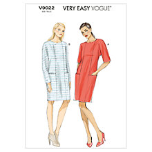 Buy Vogue Very Easy Women's Dress Sewing Pattern, 9022 Online at johnlewis.com