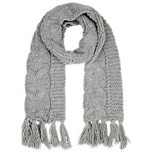 Buy Kaliko Cable Knit Scarf, Grey Online at johnlewis.com