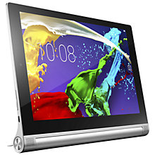 "Buy Lenovo Yoga Tablet 2 10, Intel Atom, Android, 10.1"", Wi-Fi, 32GB, Silver Online at johnlewis.com"