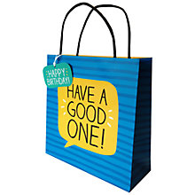 Buy Happy Jackson Have A Good One Gift Bag Online at johnlewis.com