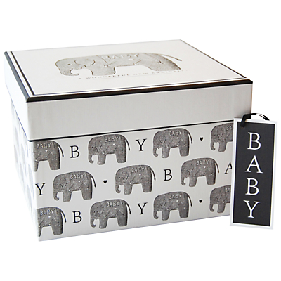 Alice Scott Baby Elephant Gift Box, Large