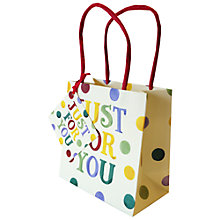 Buy Emma Bridgewater Polka Text Just For You Gift Bag Online at johnlewis.com