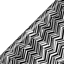 Buy Deva Zig Zag Gift Wrap, Black/White, 2m Online at johnlewis.com